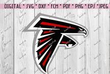 SVG or DXF Falcons Atlanta