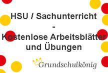 HSU / Kostenlose Arbeitsblätter für den Sachunterricht an der Grundschule
