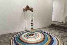 Yarn bombing art