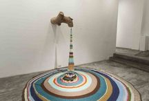 Crochet installations, yarn bombing etc.