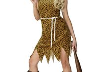 Cavemen and cavewoman costumes