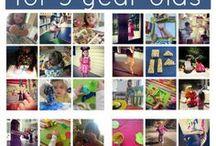 Activities for Preschooler and Kindergarten