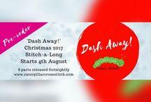 "The Caterpillar Cross Stitch ""Dash Away!"" Christmas cross stitch-a-long SAL!"