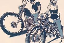 Bike art and posters