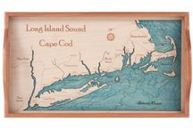 Rhode Island Trays / 2 dimensional serving trays made from one piece of wood.