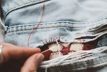 """Fixing extremely destroyed """"destroyed"""" jeans"""