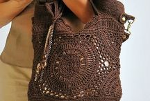 вязаные сумки/crochet bags
