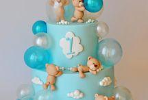 cake baby blue