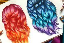dessin coiffure