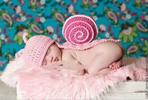 вязание для фото новорожденных