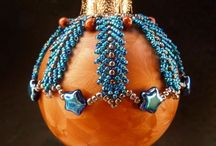 SeaBeads Beaded Christmas Ornaments / More of my beadwork can be seen on my website: https://seabeads.wordpress.com