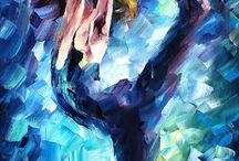 Abstract gymnastic paintingsgym art
