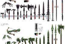 무기 / 각종 무기와 방어구