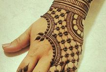 traditional henna art......