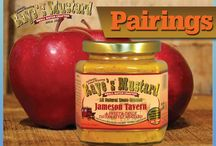 Pairings / Raye's Mustard paired with other foods for easy dining and snacking