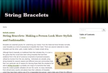 String Bracelets- Making a Person Look More Stylish and Fashionable.