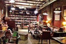 coffee shop and book store