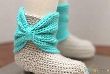 Crochet Scarves, Shawls & Slippers