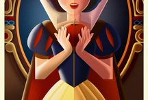 Disney Art Déco series posters / Disney posters in Art Déco style created by David G. Ferrero