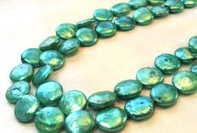 Fresh Water Pearls > Green Pearls / Every shade of Green Fresh Water Pearls!
