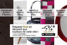 City | INSPIRATION / Les villes avec leurs couleurs et leurs sytyles nous inspirent : Paris, Strasbourg, ...