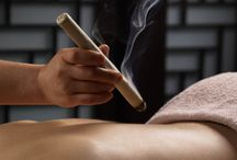 Moxibustion / moxibustion, therapy, health, wellness, cupping, Chinese medicine, moxibustion sticks, benefits, treatment, pain relief, stress relief