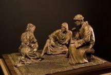 sculture bronze chretiene