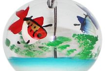 Wind Chimes & Wind Bells from Japan / The is a collection of handmade Japanese wind bells.