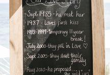 Wedding boards/signs