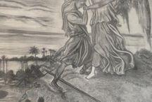 Giacobbe lotta con Dio / Matita