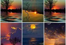 Rêves Couchers de soleil Douceur / Laissons-nous glisser dans la ouate du soleil couchant...