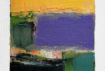 Abstracte olieverfschilderijen
