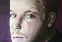 Mijn teken en schilderwerken. / Houtskool,potlood, pastelkrijt en schilder werken gemaakt door mij.