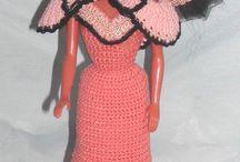 Barbie doll fashion in Paris crochet