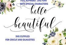 Cricut, Silhuettes svg fonts