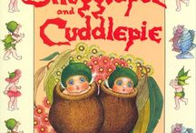 May Gibbs Illustrations / Use these images for boys Cuddlepie & Sugglepot birthday party as Confetti for table decorations
