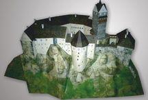 Miniatury papírové modely - hrady & zámky