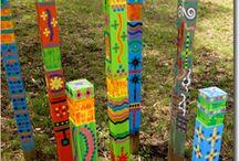 Garden decor / Creating colour art for the outdoors