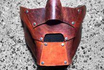 leather moto mask