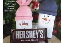 Hersey bar snowman with $gloves