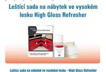Leštění nábytku ve vysokém lesku / Leštící sada na nábytek ve vysokém lesku High Gloss Refresher