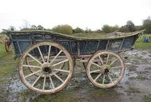 Old Farm Wagons. Works of Art from the Wheelwright