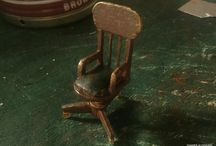 VINTAGE DESK CHAIR / will be put it close to desk of diorama room