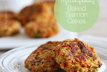 Baked salmon cakes