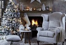 Winter Inspiration / From cozy living rooms with crackling fires to beautiful traditional white dining rooms with deep red accents, this board will give you some decorating ideas for spending quality time with loved ones during the busy winter months.