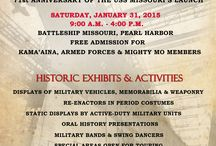 2015 Living History Day / A full day of festivities welcomed the public to experience history first hand during Living History Day at the Battleship Missouri Memorial on Saturday, January 31, 2015. The event will commemorate the dual anniversaries of the USS Missouri, first as a battleship ready for combat 71 years ago, and then as a memorial 55 years later. As a special mahalo to celebrate these anniversaries, admission to the Mighty Mo was FREE to Hawaii residents & members of the Armed Forces throughout the day.