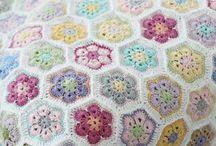 crochet - African flowers