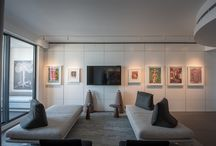 Modern interiors in Atlanta condo / Modern interiors in this 950 sqare feet condo featuring a private art collection with works of Steffen Thomas. Midtown Atlanta
