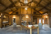 The Middle Barn / Our newly constructed (Spring 2016!) Middle Barn at The Barns at Wesleyan Hills, our new cocktail hour space for all of our couples!