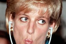 Princess Diana funny faces